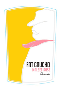 Malbec Rose Wine Label